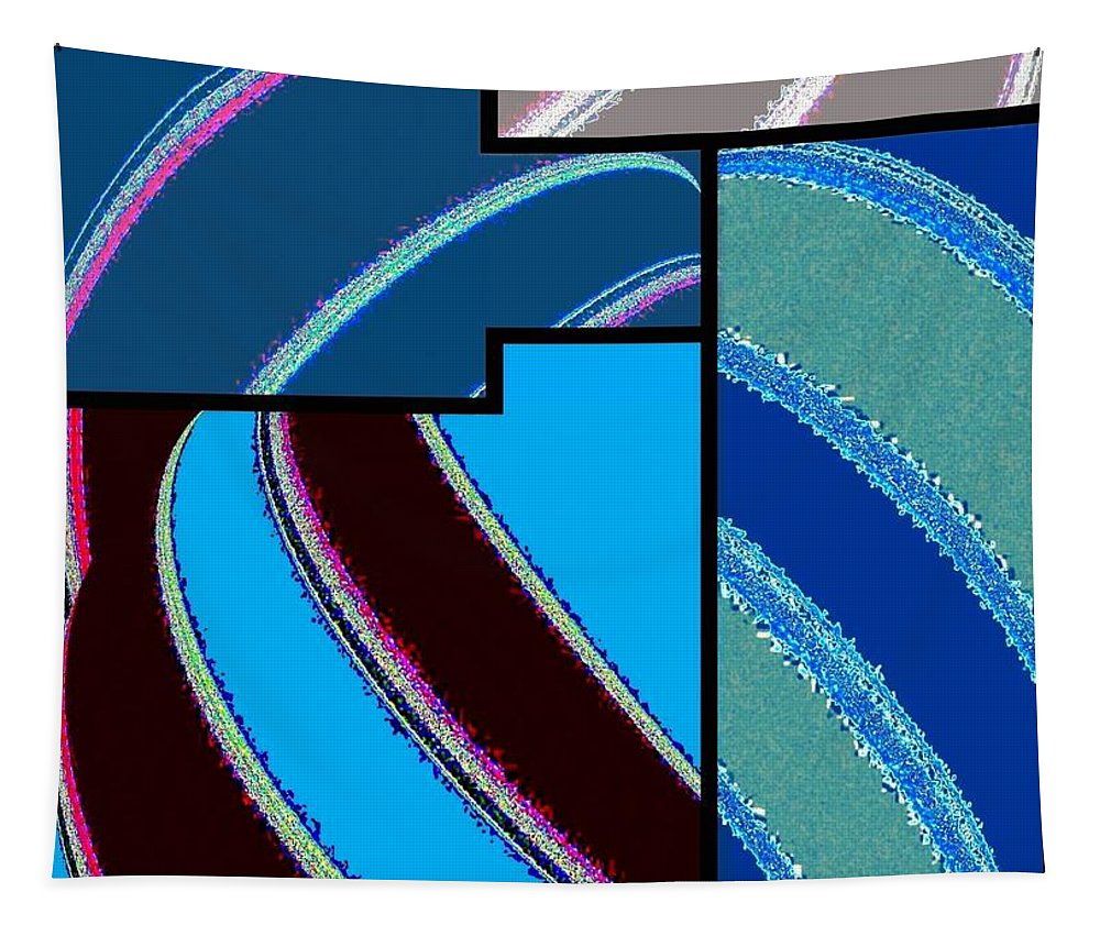 Abstract Fusion Tapestry featuring the digital art Abstract Fusion 143 by Will Borden