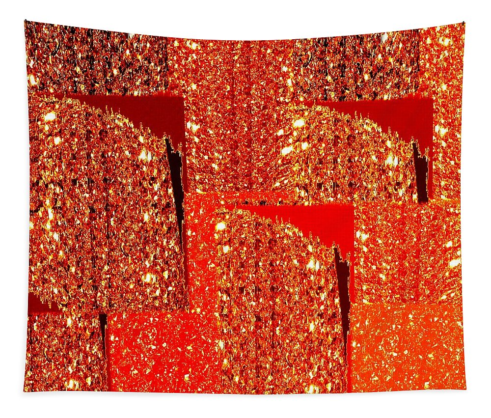 Abstract Fusion 228 Tapestry featuring the digital art Abstract Fusion 228 by Will Borden