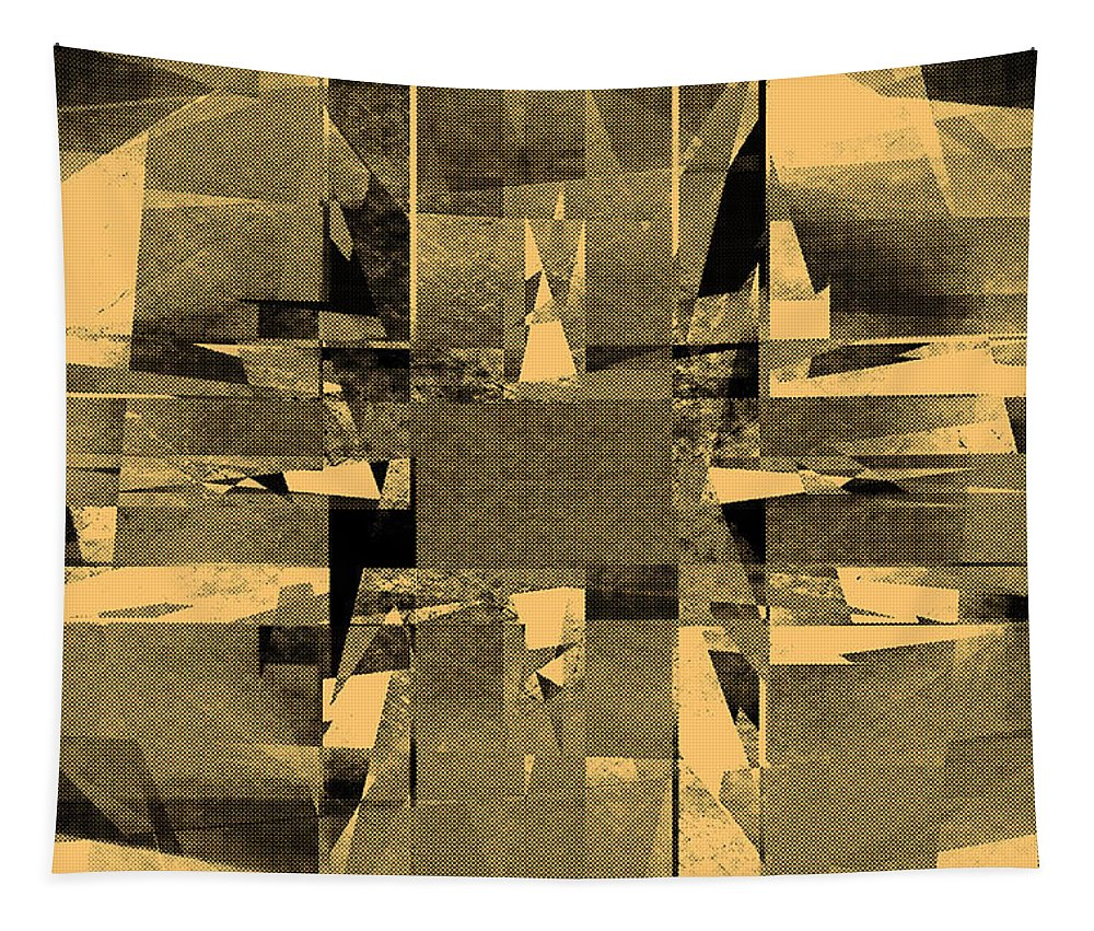 Background Tapestry featuring the digital art Abstract Halftone by Steve Ball