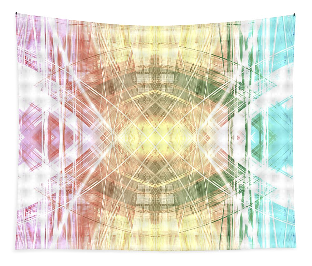 Abstract Tapestry featuring the digital art Abstract Light by Steve Ball
