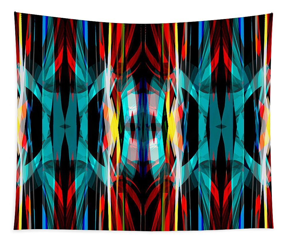 Abstract Tapestry featuring the digital art Abstract Pattern 3 by Steve Ball