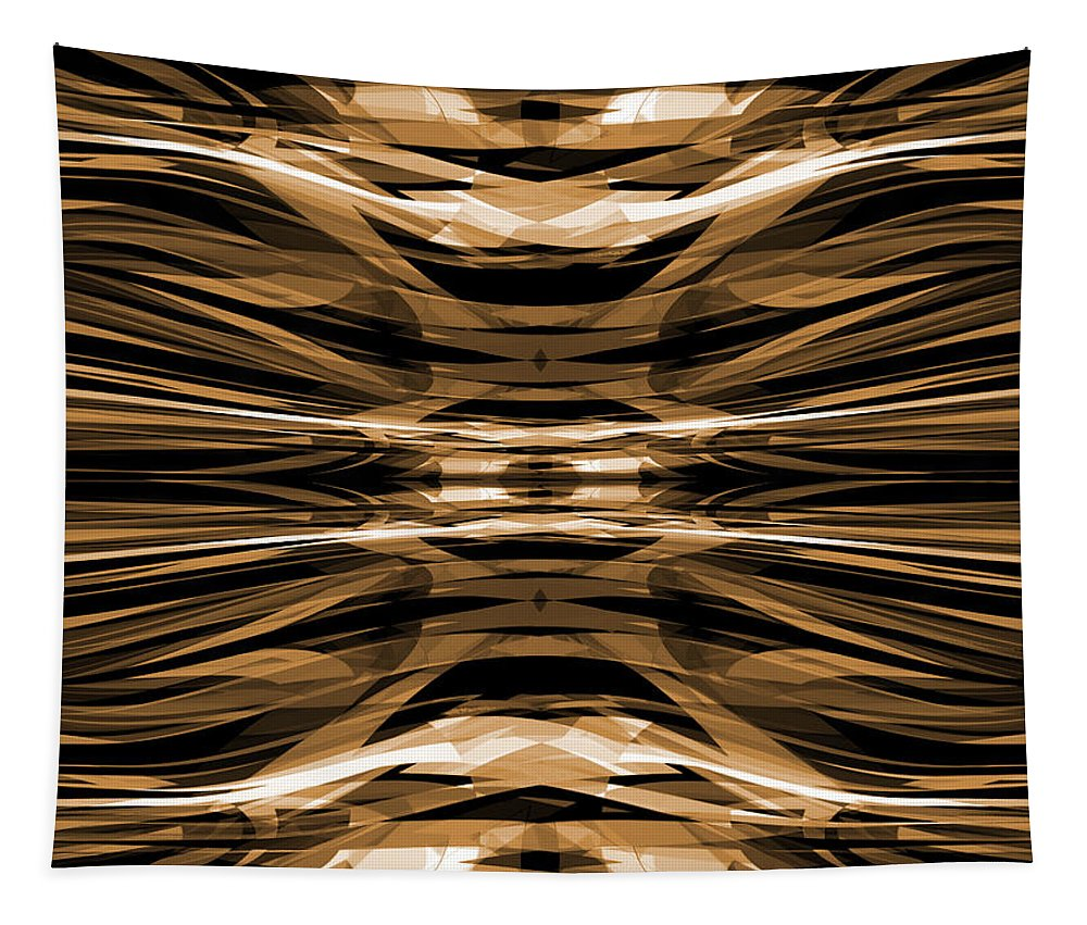 Abstract Tapestry featuring the digital art Abstract Pattern 4 by Steve Ball