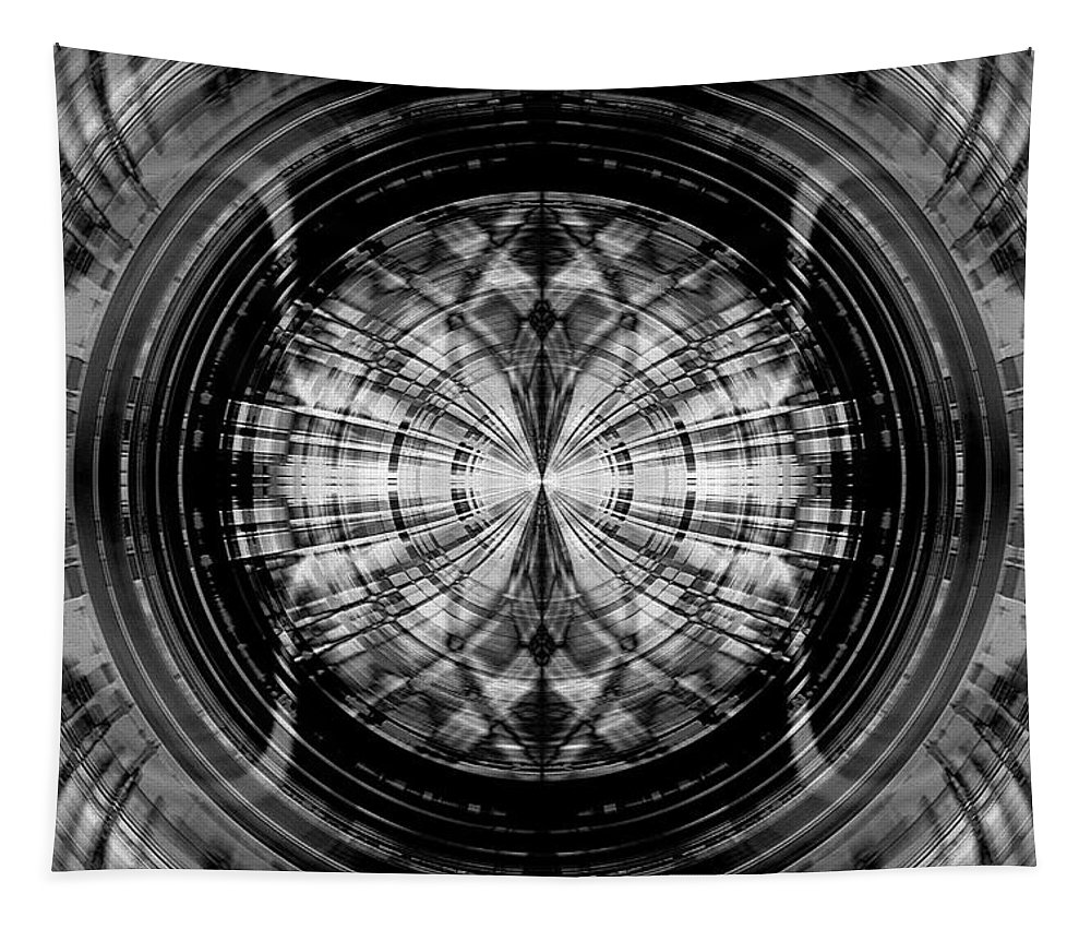 Abstract Tapestry featuring the digital art Abstract Structure 2 by Steve Ball