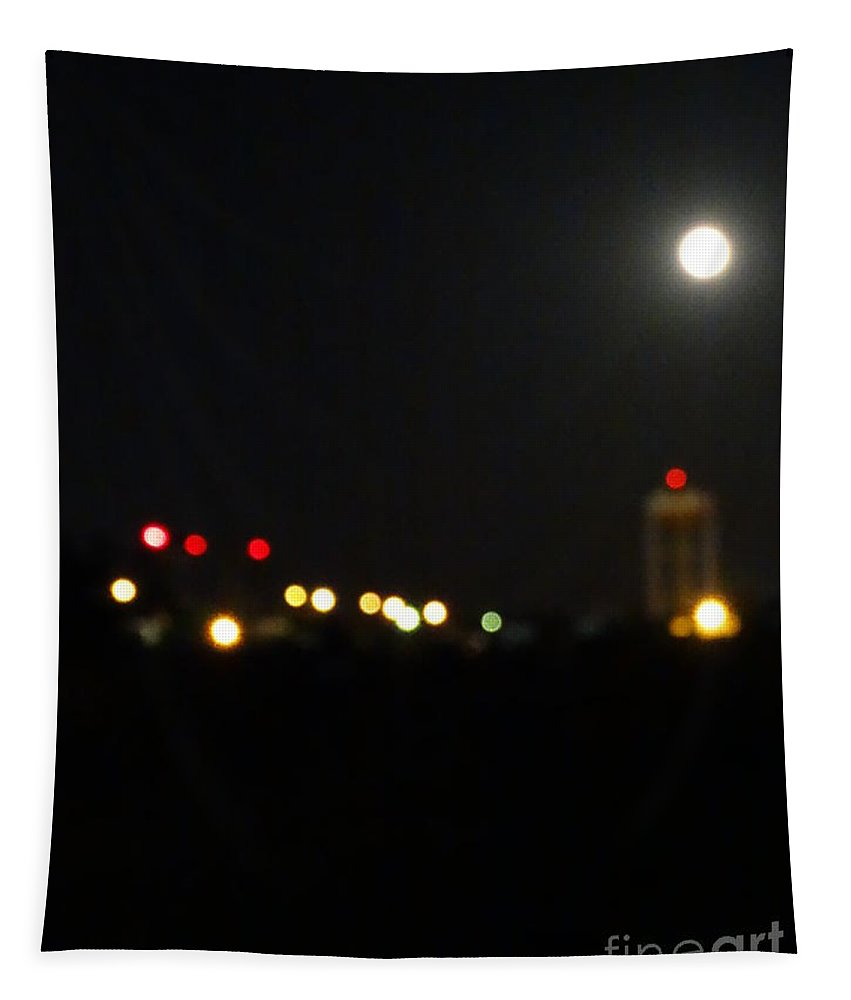 Water Tower Tapestry featuring the photograph Abstract Water Tower Town by Joseph Baril