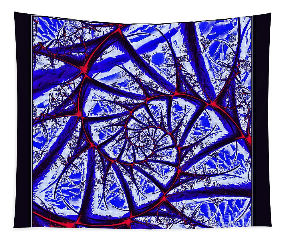 Window Tapestry featuring the digital art Abstract Window Design by Davids Digits
