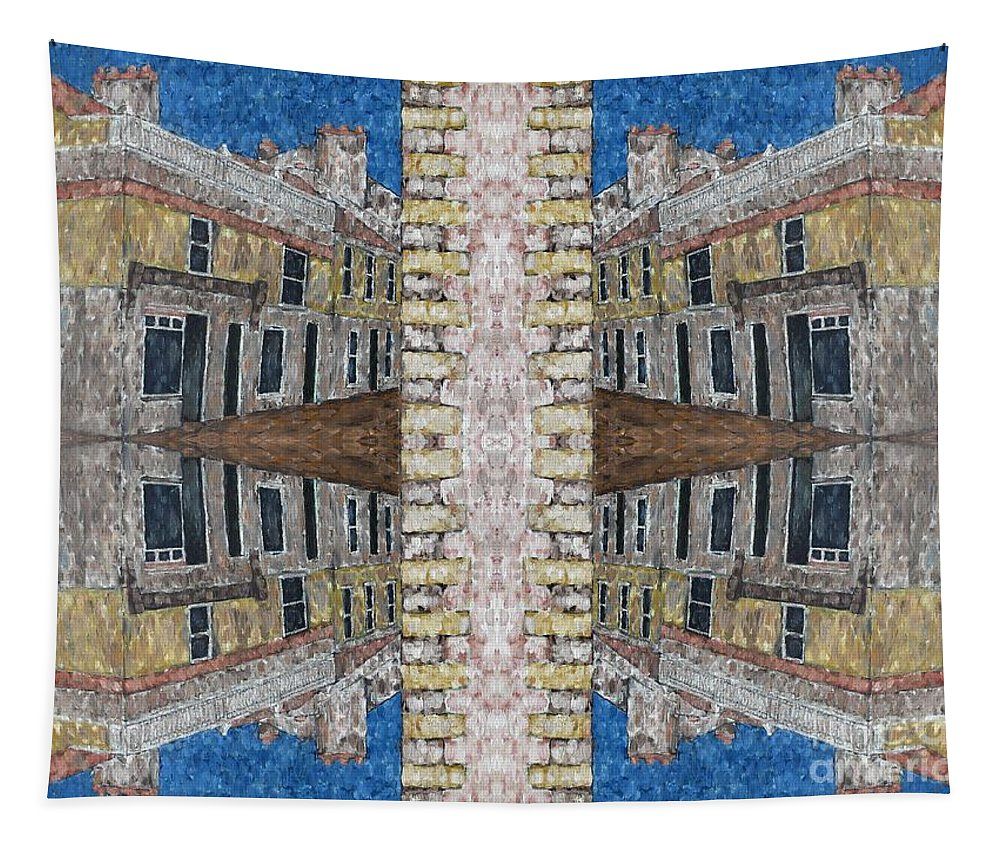 Streets Tapestry featuring the painting Abstraction 120 by Patrick J Murphy