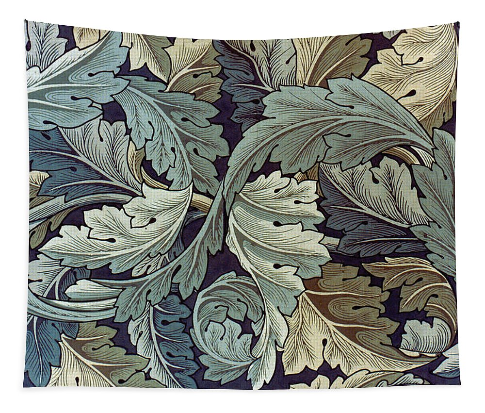William Tapestry featuring the tapestry - textile Acanthus Leaf Design by Philip Ralley