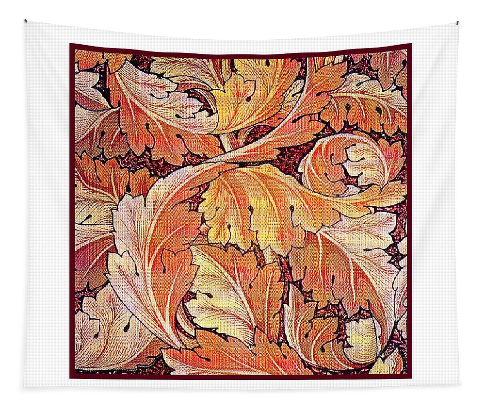 William Tapestry featuring the mixed media Acanthus Vine Design by Philip Ralley