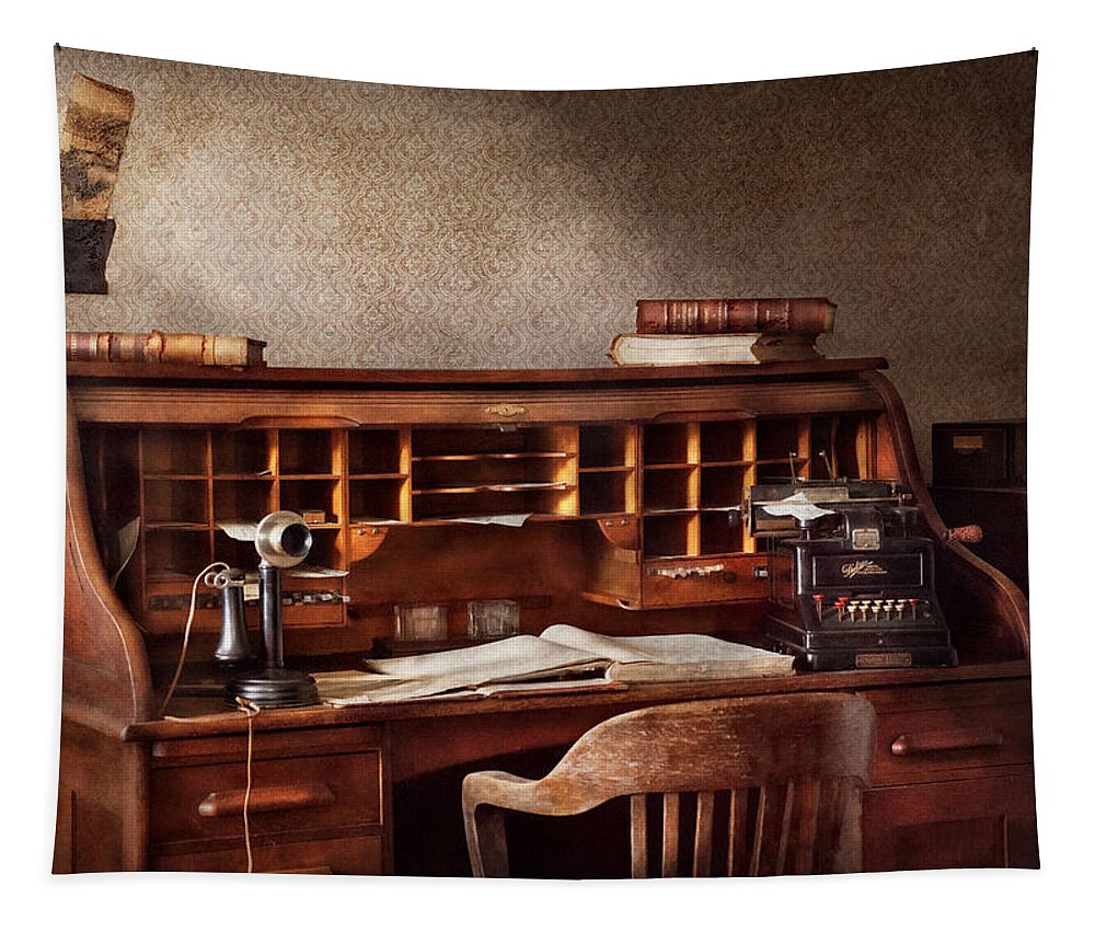 Accountant Tapestry featuring the photograph Accountant - Accounting Firm by Mike Savad