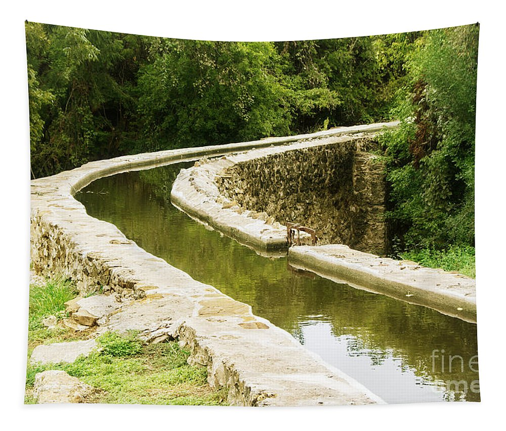 Acequia Tapestry featuring the photograph Acequia by Gary Richards