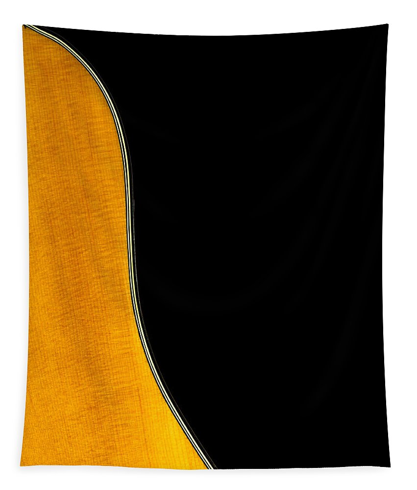 Guitar Tapestry featuring the photograph Acoustic Curve In Black by Bob Orsillo