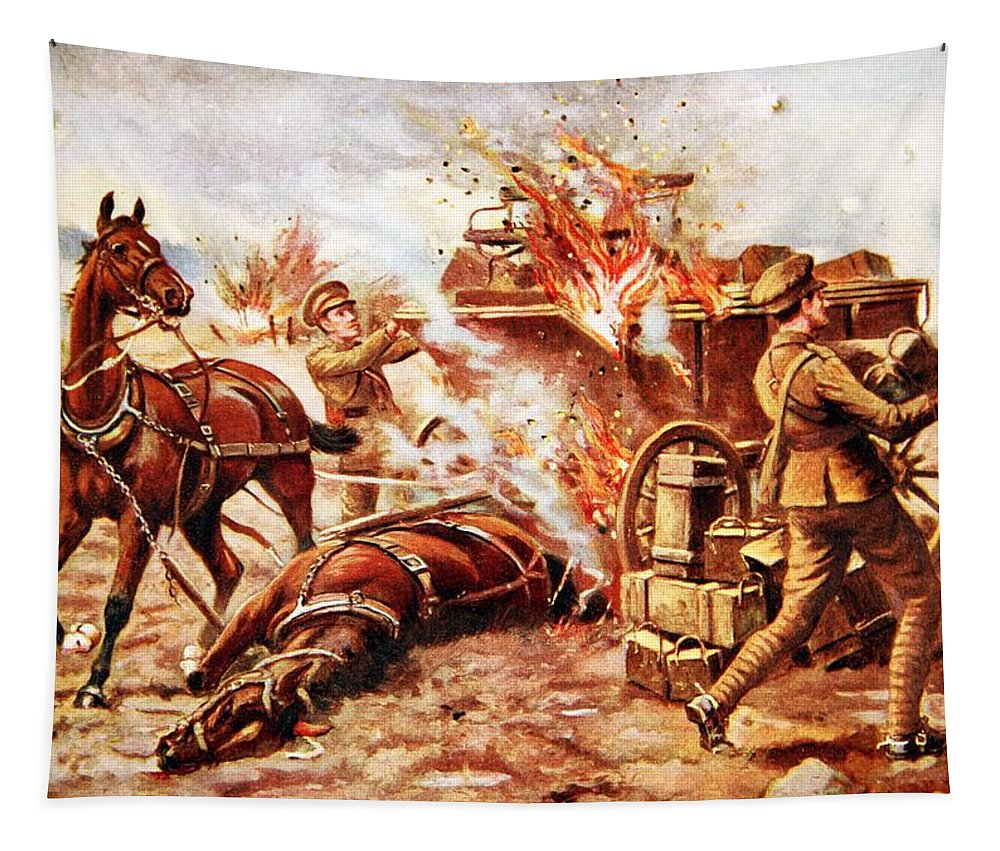 World War One Tapestry featuring the drawing Acting-bombardier H.a. Creasey by George Derville Rowlandson