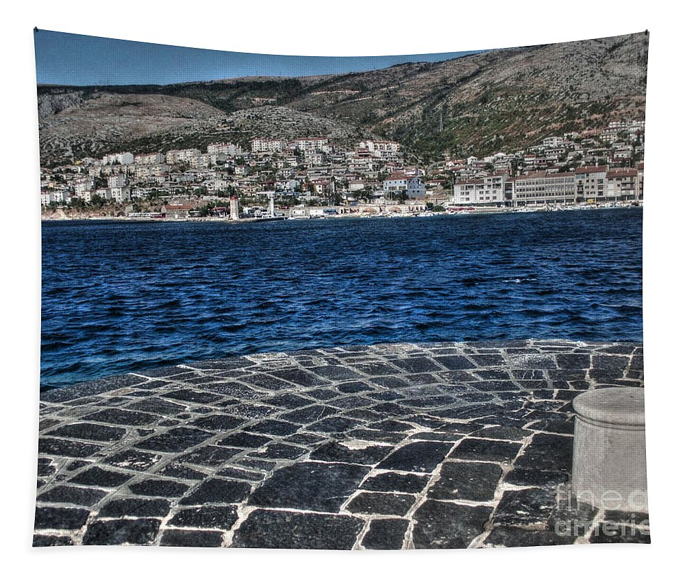 Adriatic Tapestry featuring the photograph Adriatic Sea by Nina Ficur Feenan