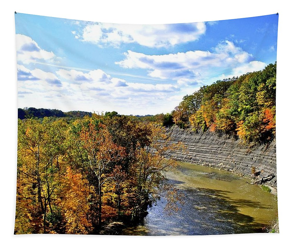 Landscape Tapestry featuring the photograph Aerial View by Frozen in Time Fine Art Photography