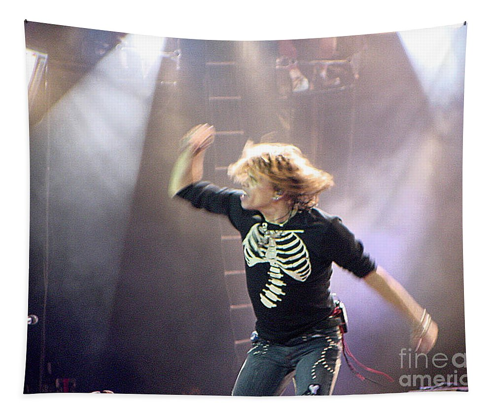 Aerosmith Tapestry featuring the photograph Aerosmith-steven Tyler-00193 by Gary Gingrich Galleries