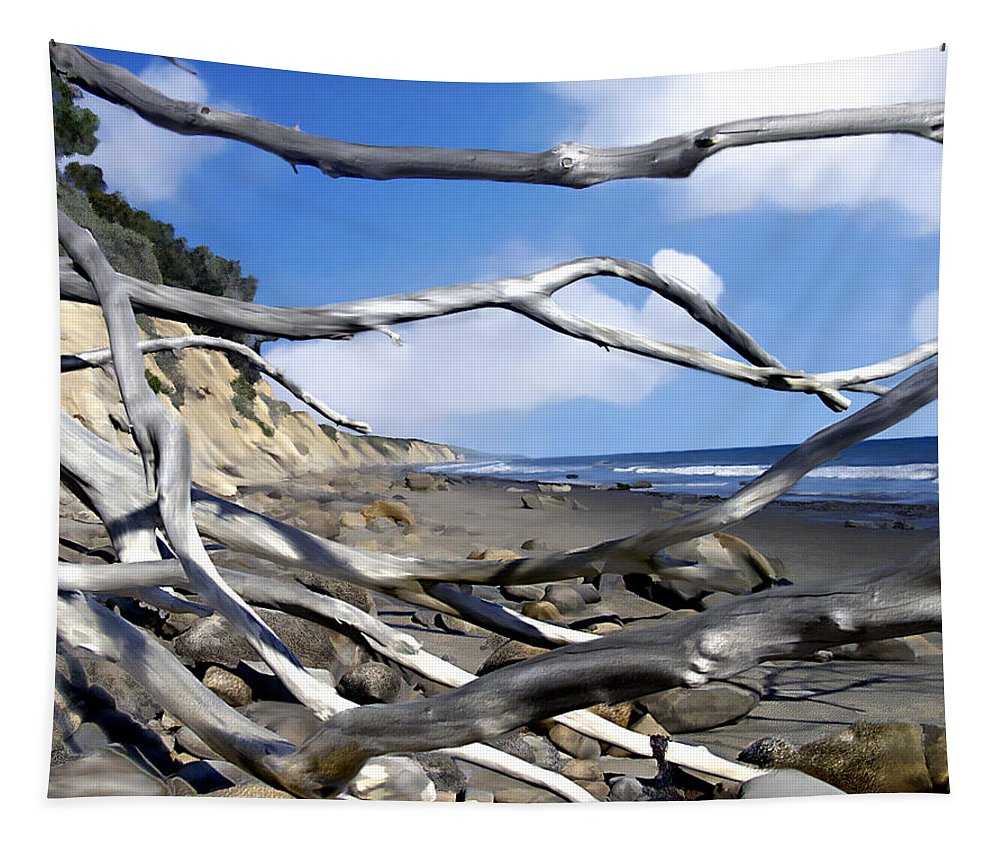 Ocean Tapestry featuring the photograph After The Storm Gaviota by Kurt Van Wagner