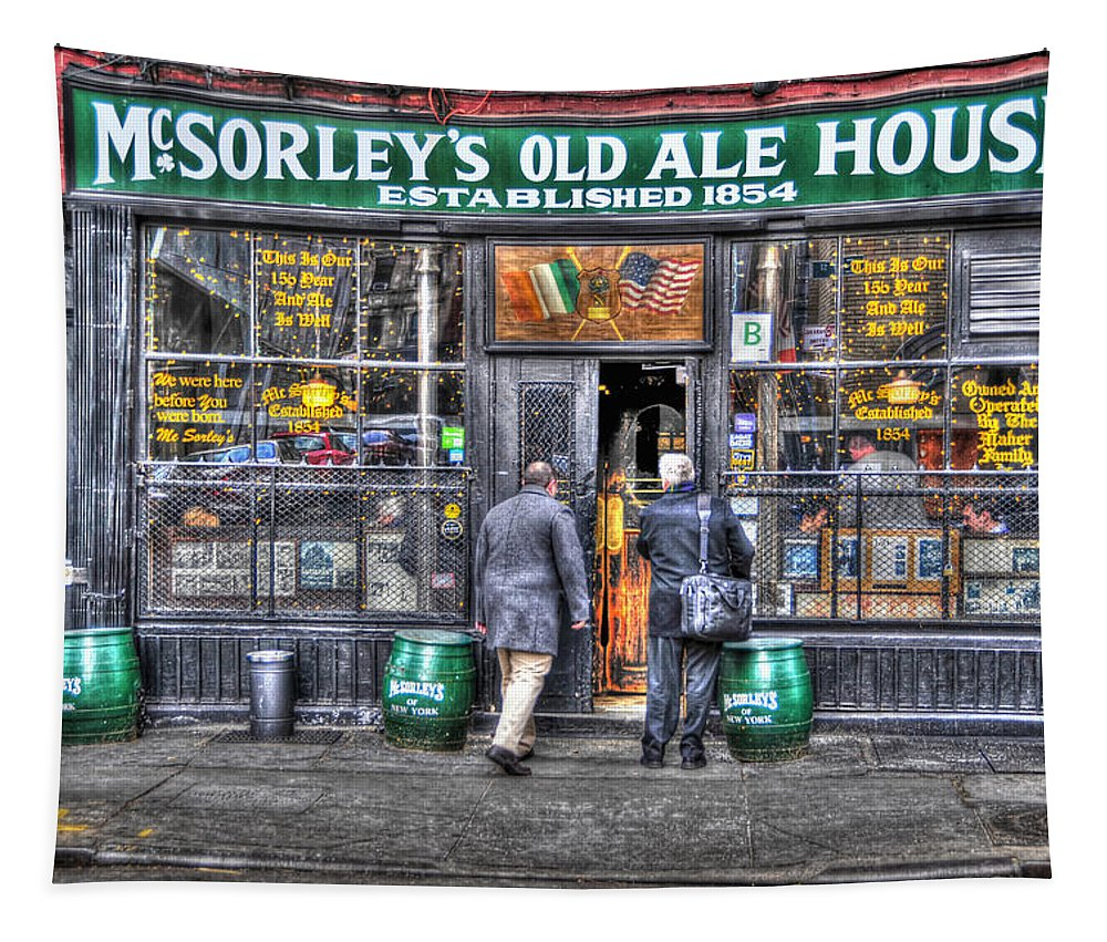 Mcsorley's Old Ale House Tapestry featuring the photograph Afternoon At Mcsorley's by Randy Aveille