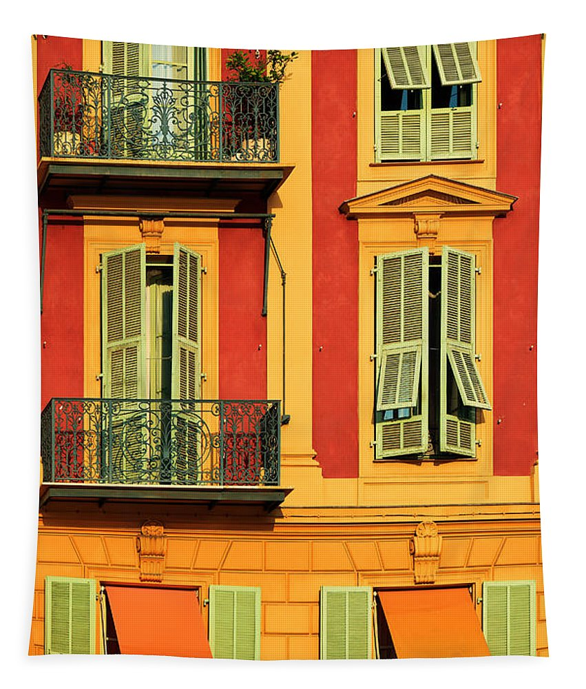 Cote D\'azur Tapestry featuring the photograph Afternoon Windows by Inge Johnsson