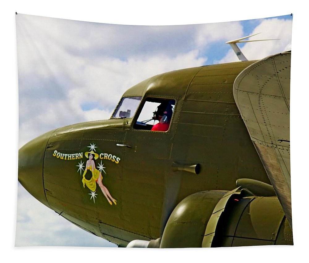 Aircraft Tapestry featuring the photograph Airplane Named Southern Crosss by Robert Brown