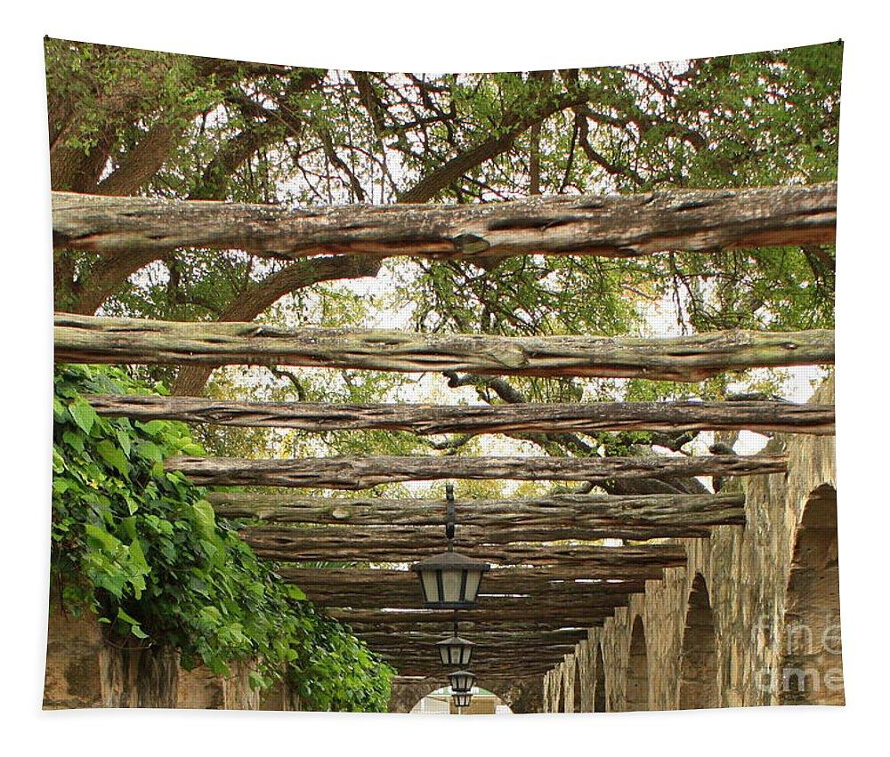 Alamo Walkway Tapestry featuring the photograph Alamo Walkway by Carol Groenen