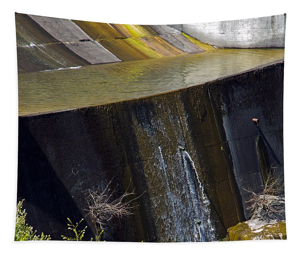 Alder Dam Tapestry featuring the photograph Alder Dam Spillway by Tikvah's Hope