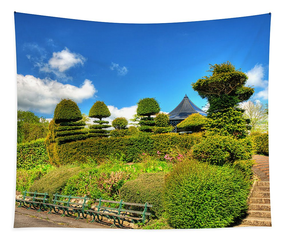 Alexandra Park Penarth Tapestry featuring the photograph Alexandra Park Penarth by Steve Purnell