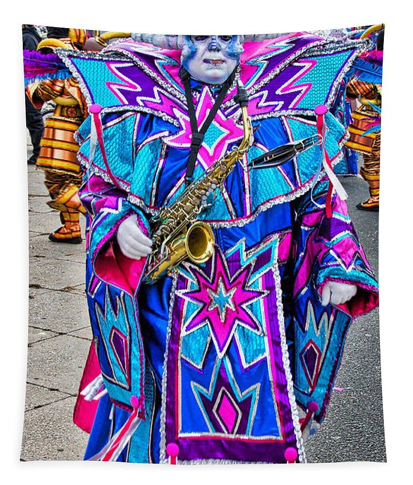 Mummer Tapestry featuring the photograph Alien Mummer by Alice Gipson
