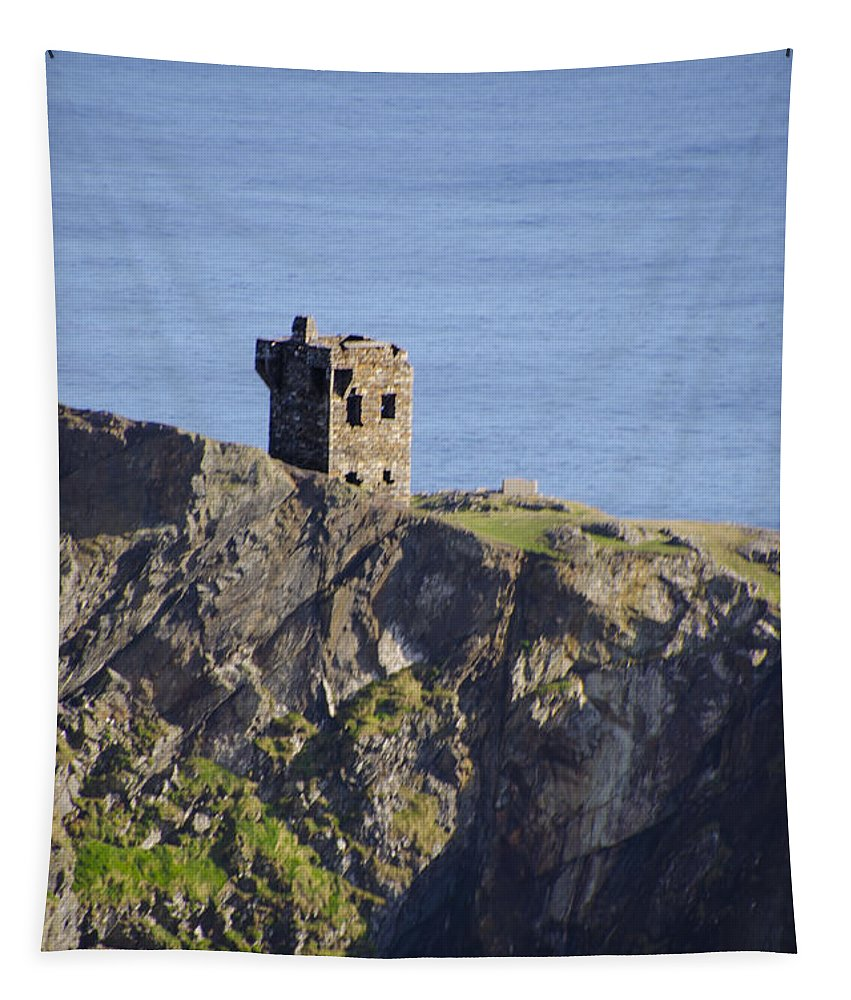 All Tapestry featuring the photograph All Along The Watchtower - Bunglass Donegal Ireland by Bill Cannon