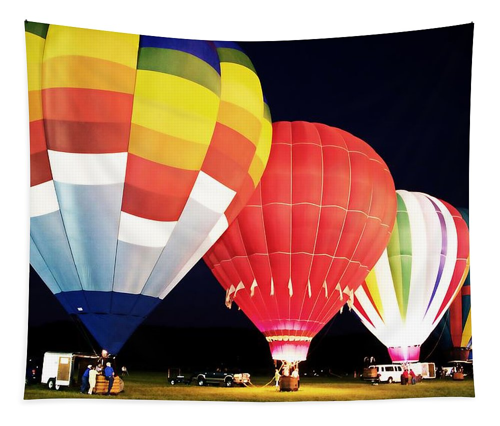 Hot Air Balloons Tapestry featuring the photograph All Blown Up by Alice Gipson