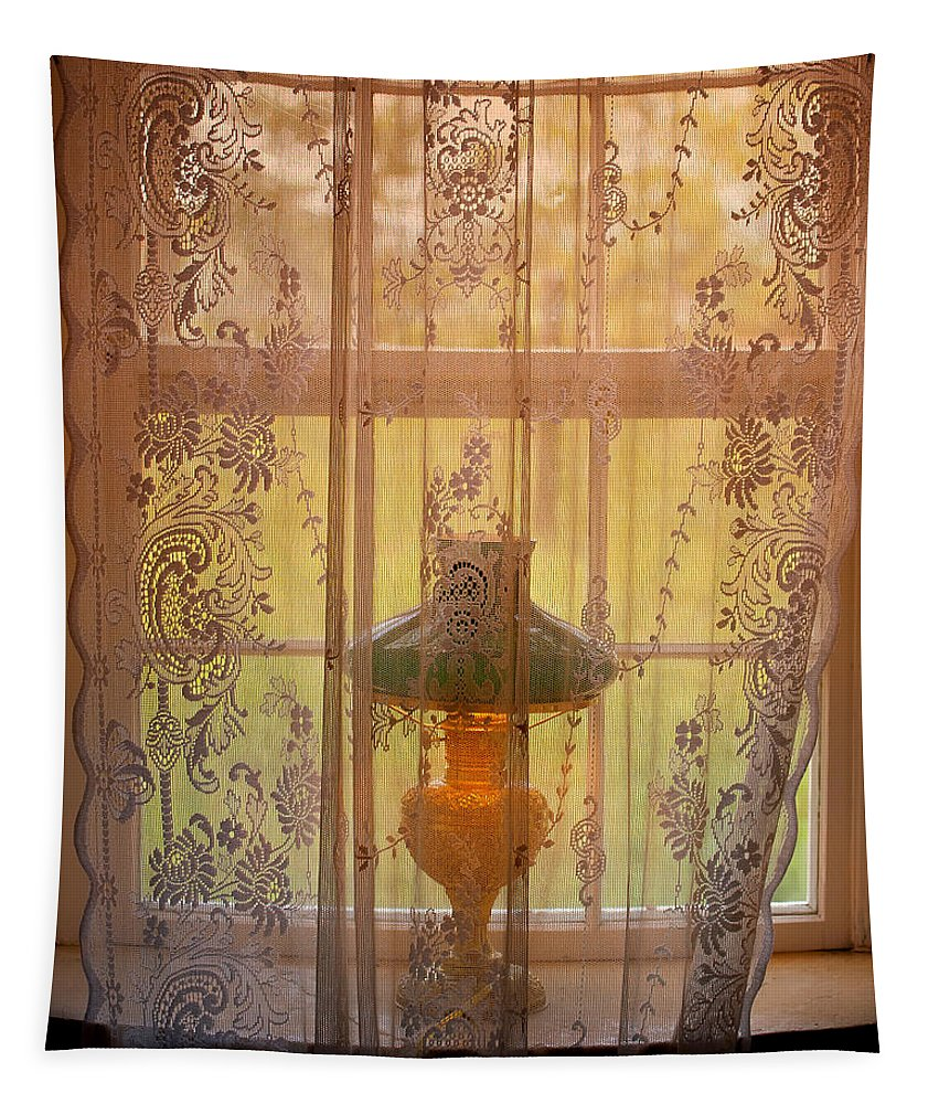 Lamp Tapestry featuring the photograph Lamp Light Glow II by Stephen Anderson