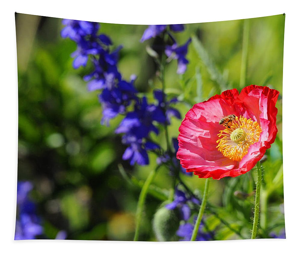 Wildflowers Tapestry featuring the photograph All In A Day's Work by Lynn Bauer