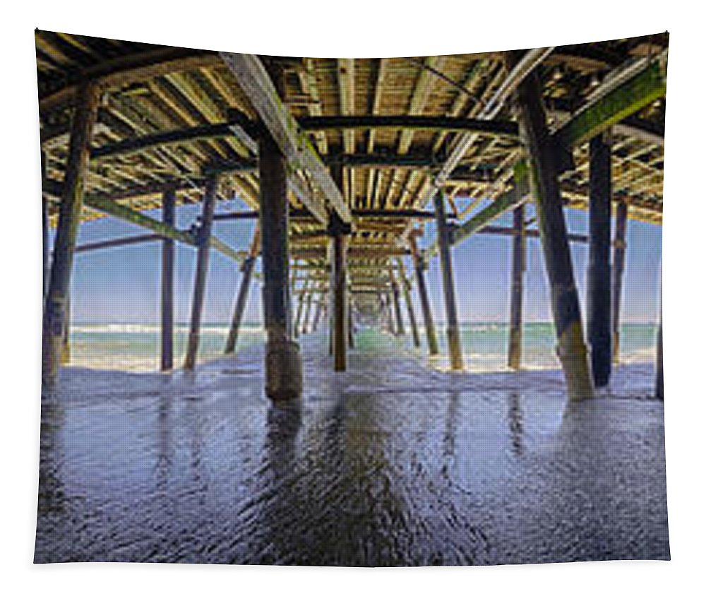 Pier Tapestry featuring the photograph All The Way Under The Pier by Scott Campbell