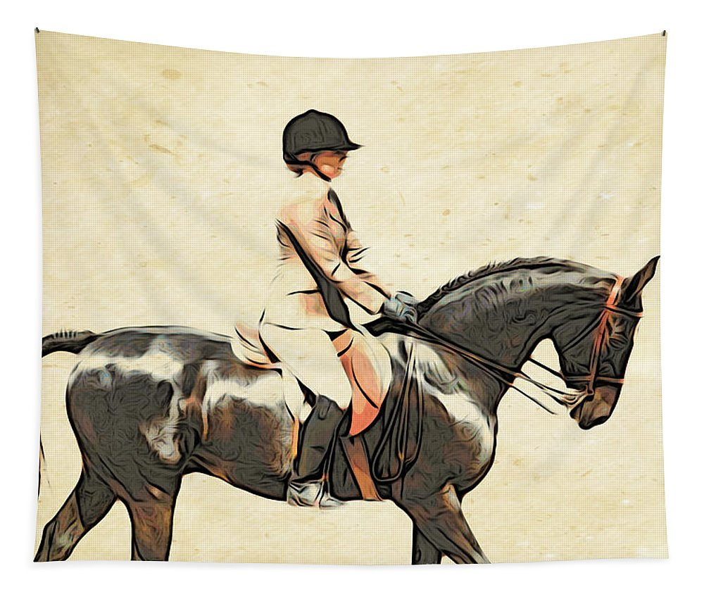 Horse Tapestry featuring the photograph All Turned Out by Alice Gipson