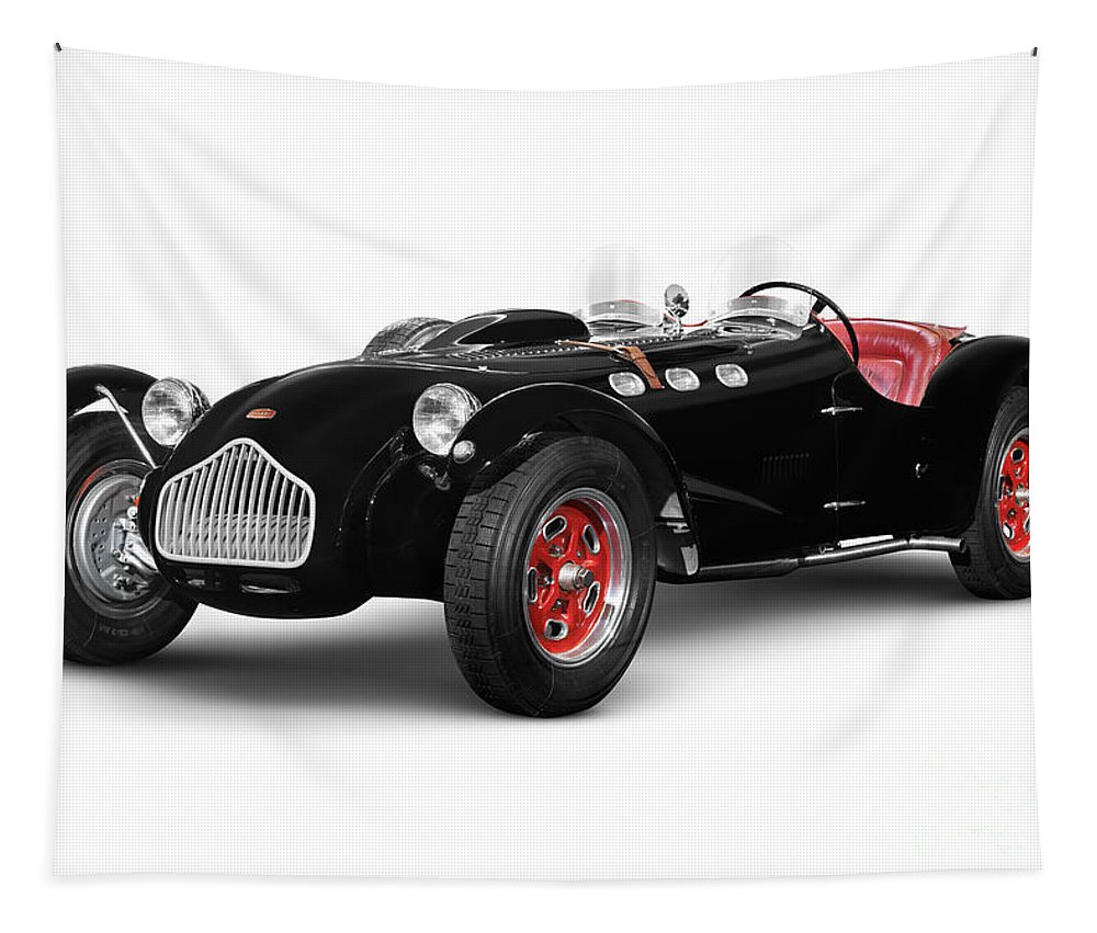 Car Tapestry featuring the photograph Allard J2x Vintage Sports Car by Oleksiy Maksymenko