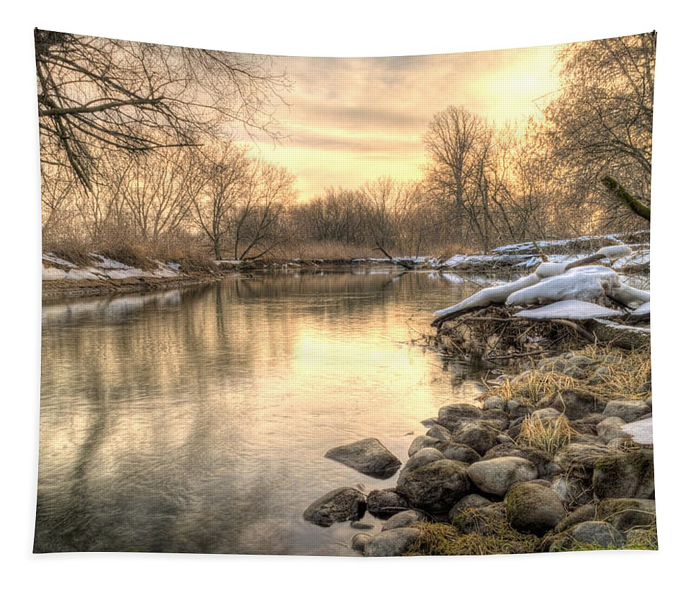River Tapestry featuring the photograph Along The Thames River by Garvin Hunter