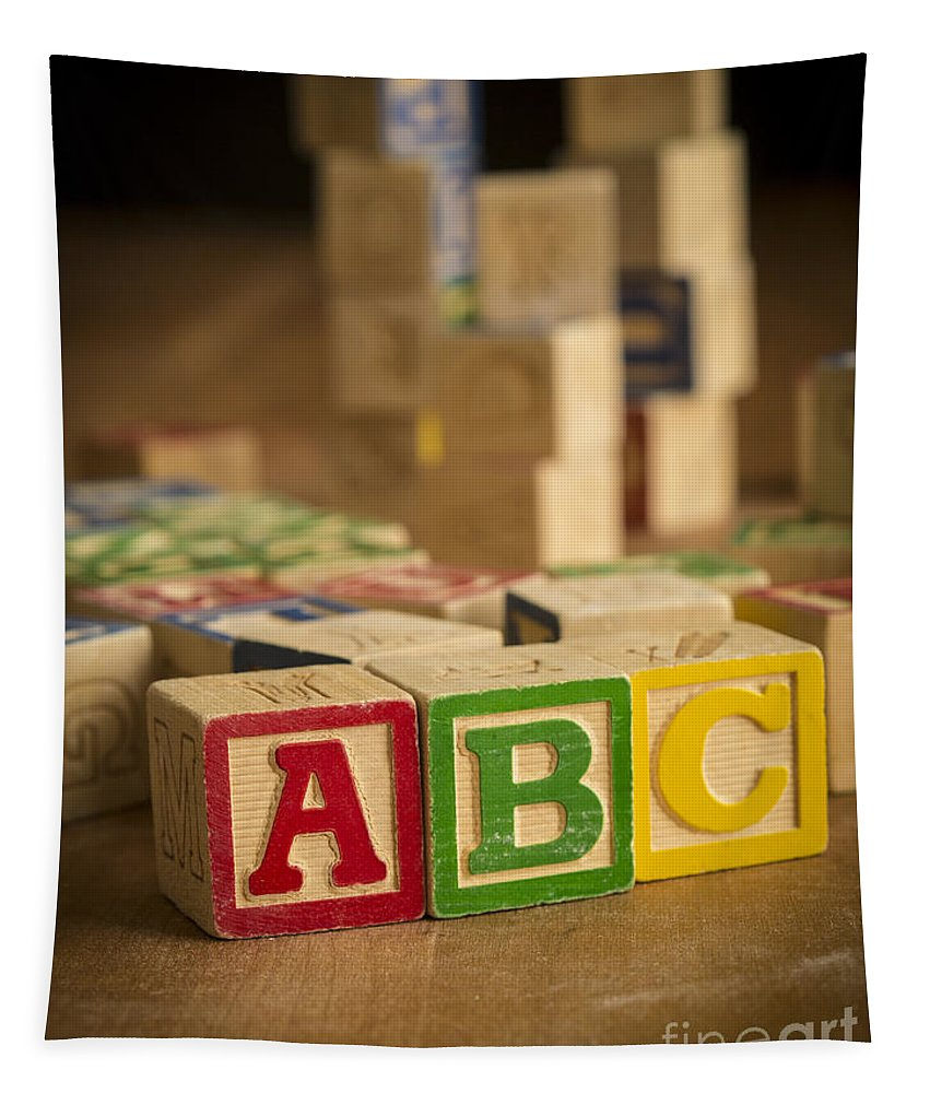 Abc Tapestry featuring the photograph Alphabet Blocks by Edward Fielding
