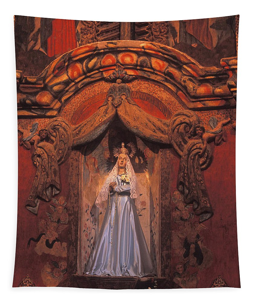 Madonna Tapestry featuring the photograph Altar And Madonna by Paul W Faust - Impressions of Light