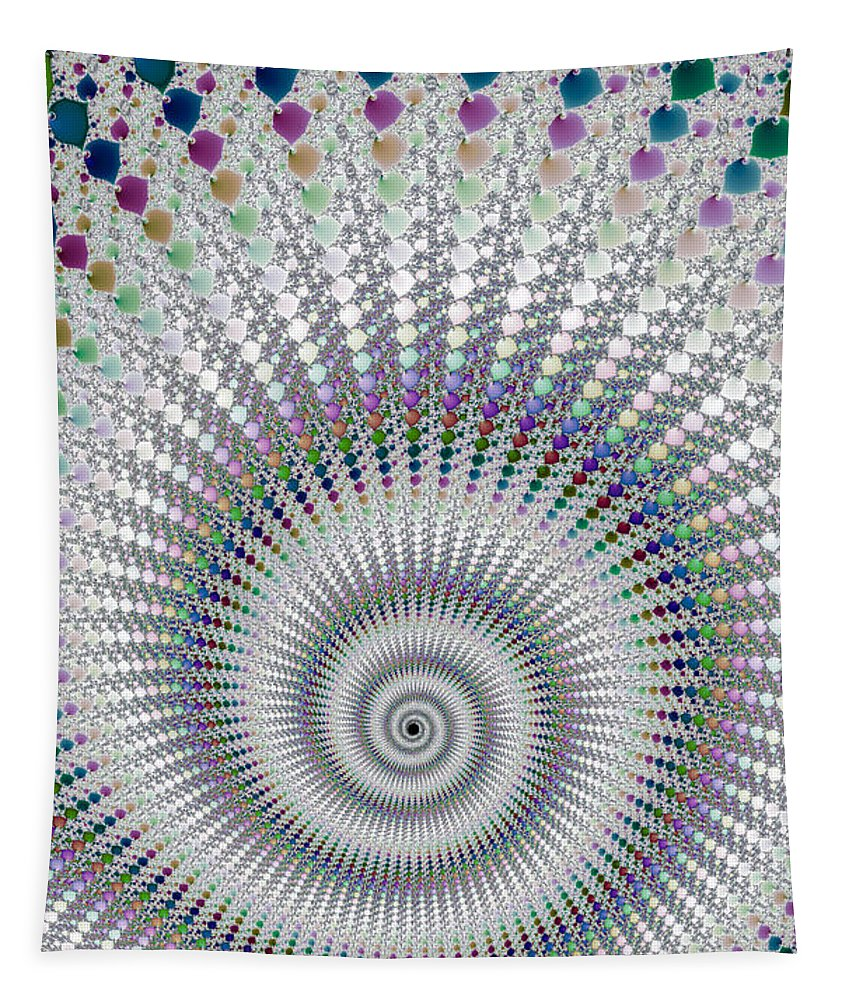 Spiral Tapestry featuring the digital art Amazing Fractal Spiral With Great Depth by Matthias Hauser