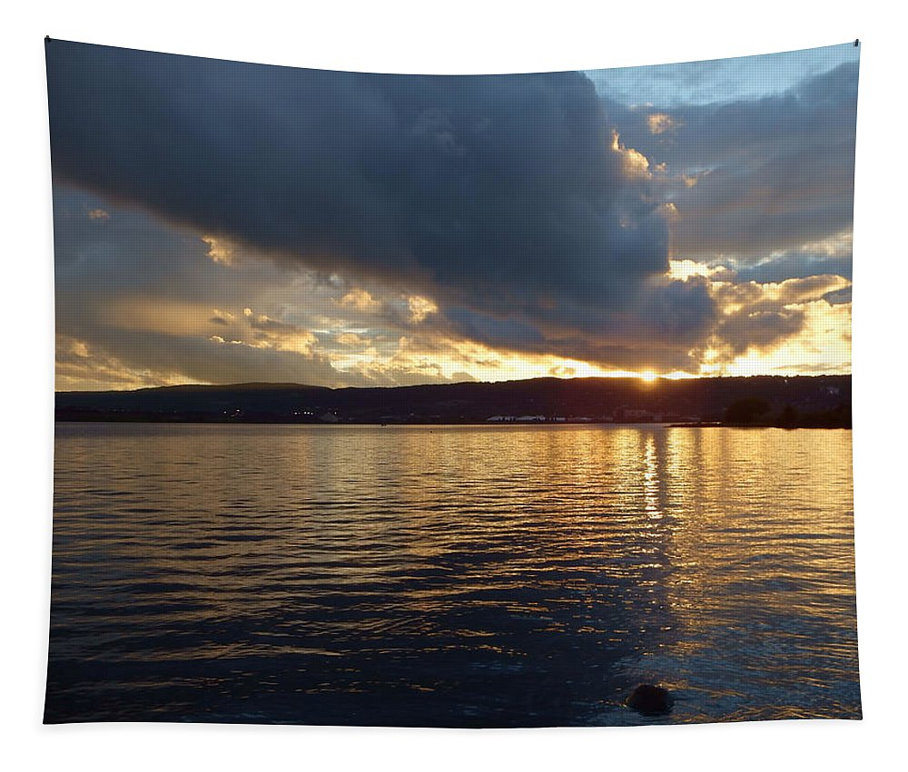 Sunset Tapestry featuring the photograph Amazing Grace by Alison Gimpel