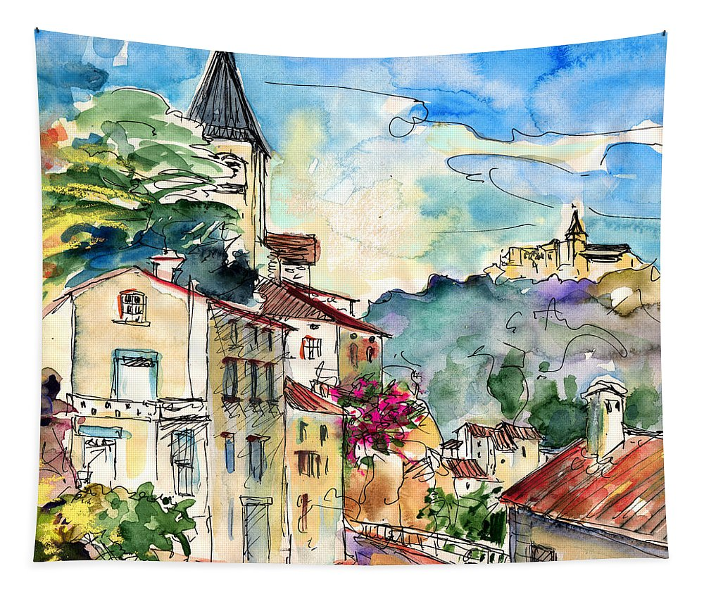 Travel Tapestry featuring the painting Ambialet 01 by Miki De Goodaboom