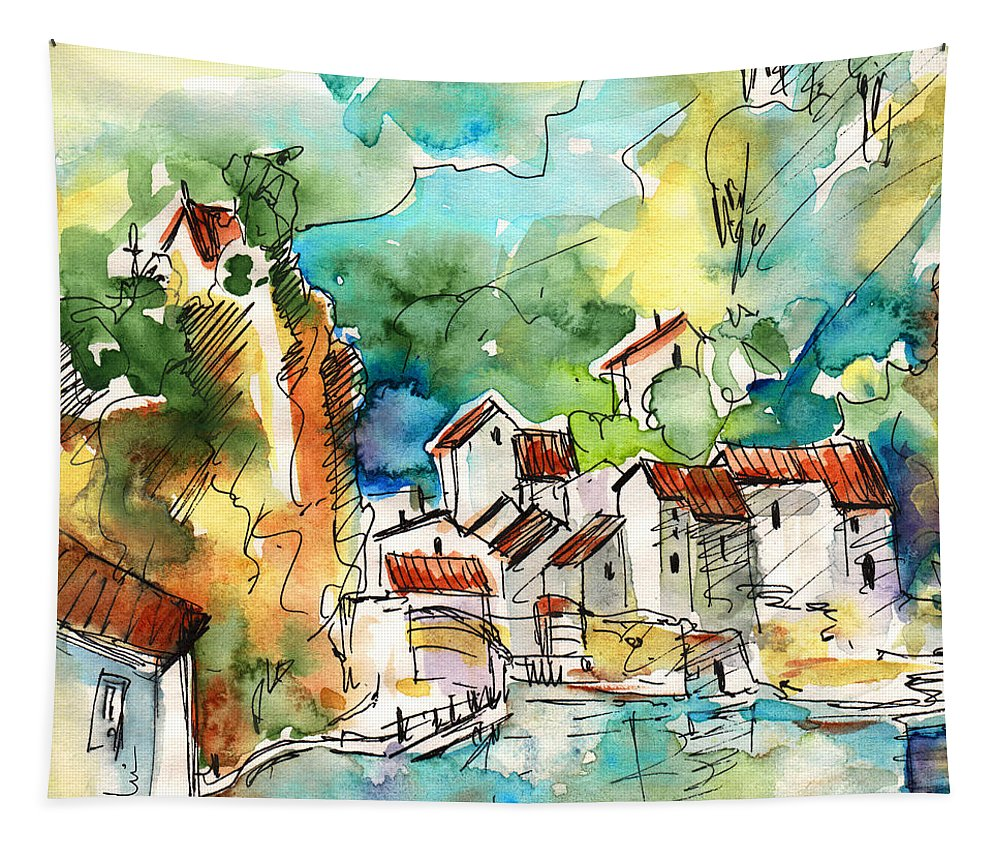 Travel Tapestry featuring the painting Ambialet 02 by Miki De Goodaboom