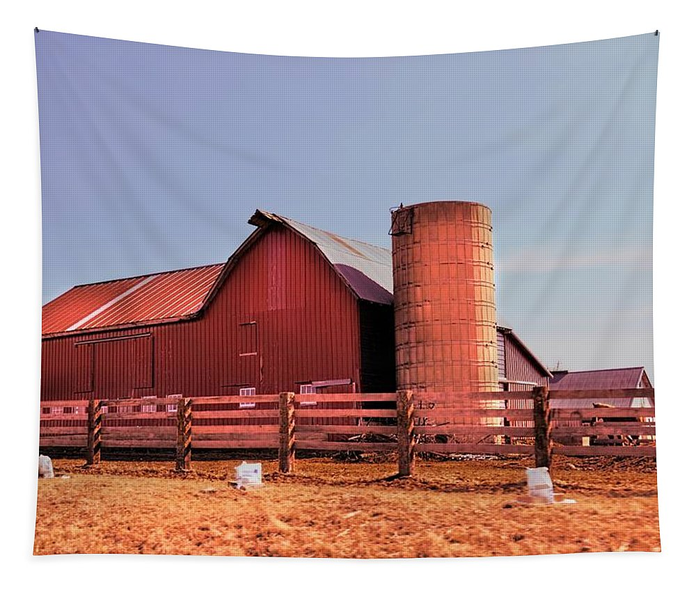 Rustic Tapestry featuring the photograph Amish Barn 2 by Bonfire Photography