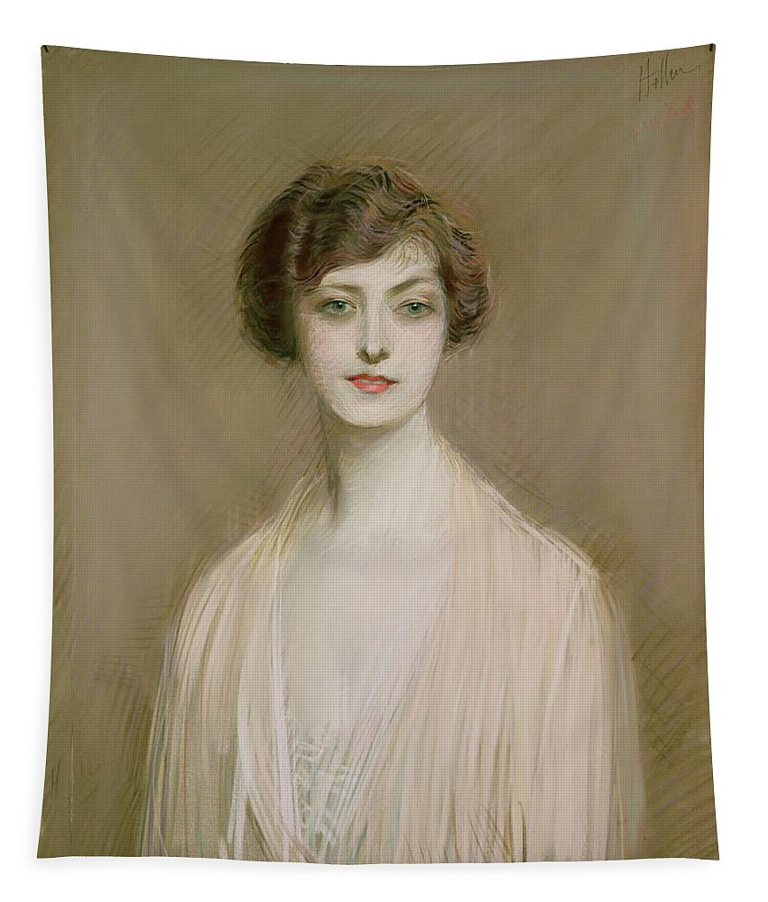 Portrait Tapestry featuring the painting An American by Paul Cesar Helleu