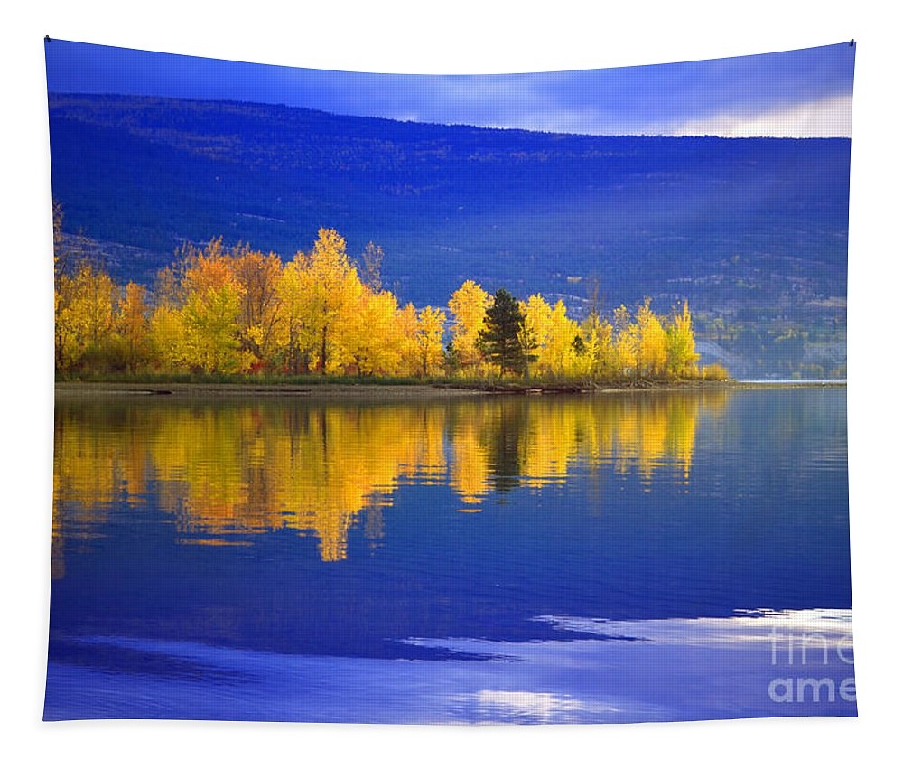 Lake Tapestry featuring the photograph An Autumn Morning At Sunoka Beach by Tara Turner