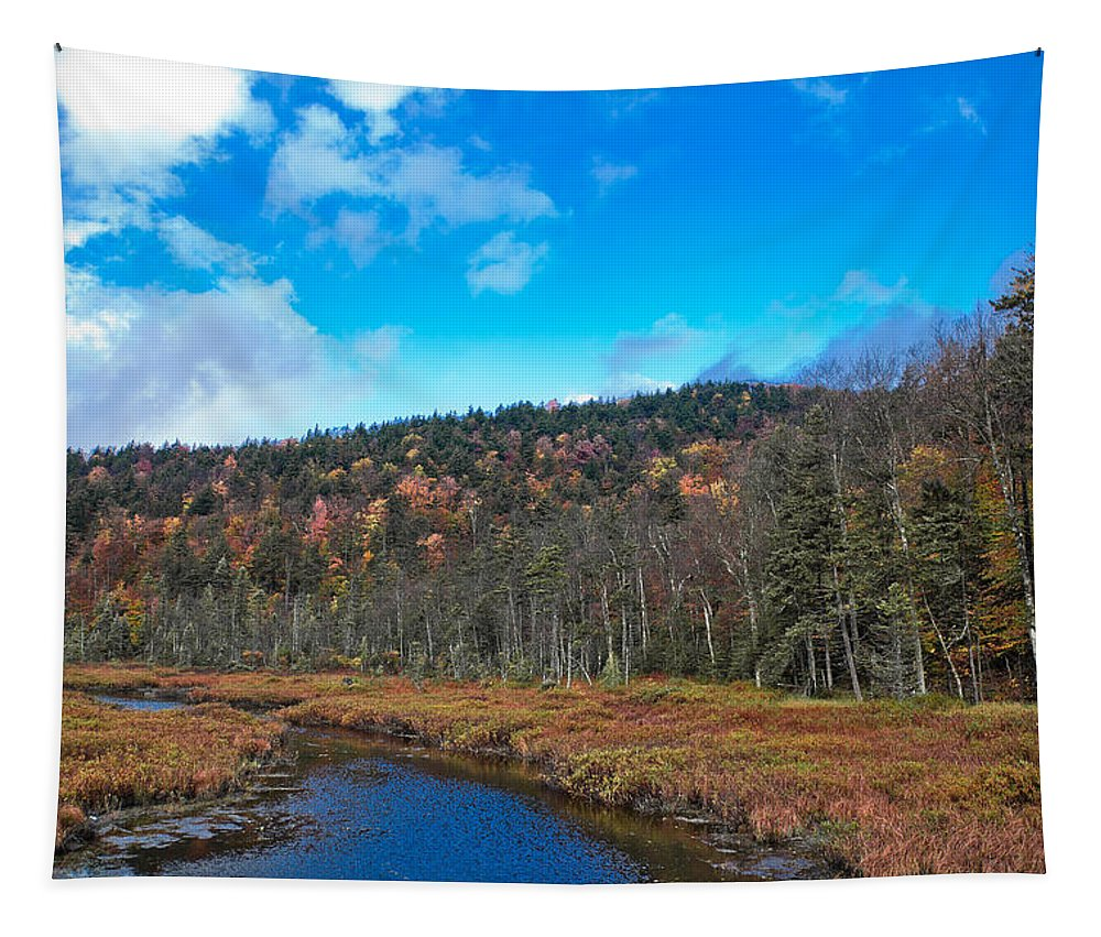 An Early Fall Day At Cary Lake Tapestry featuring the photograph An Early Fall Day At Cary Lake by David Patterson