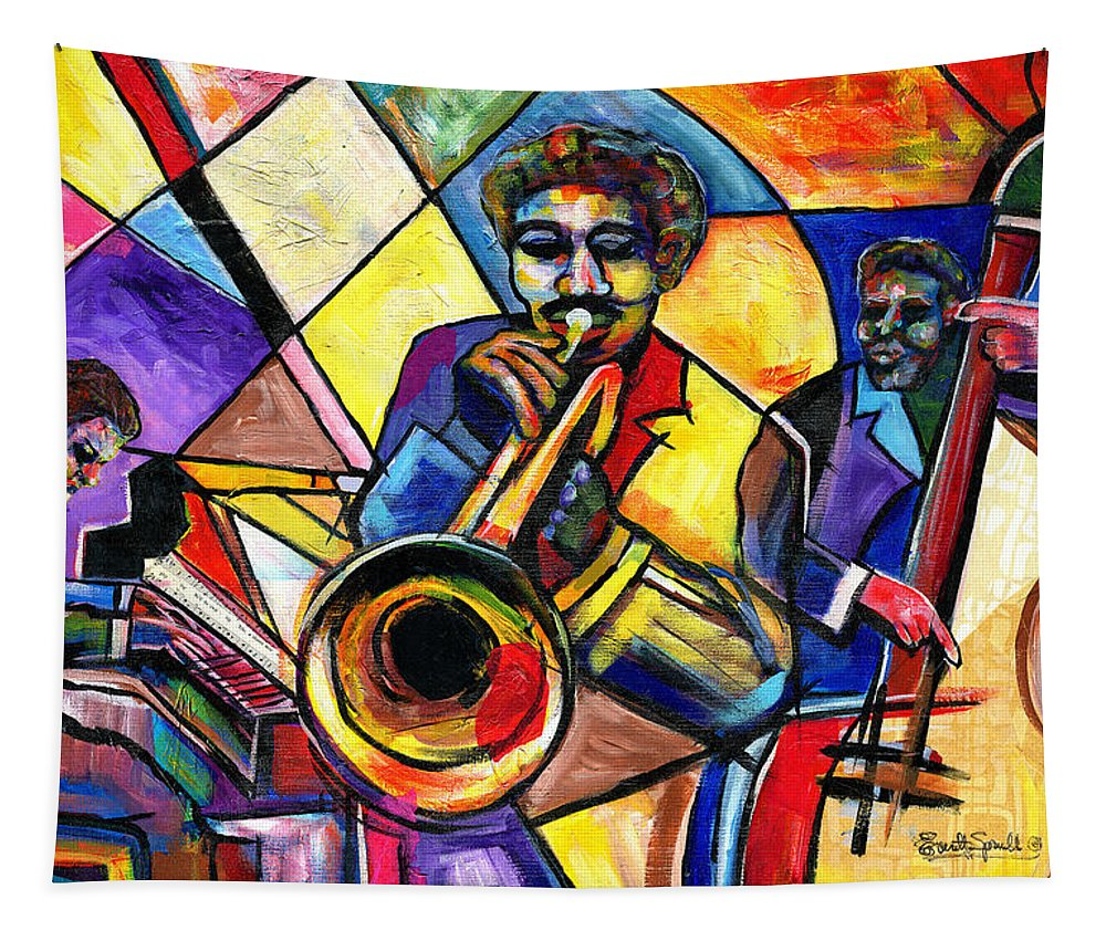 Everett Spruill Tapestry featuring the painting And Then There Was Da Blues by Everett Spruill