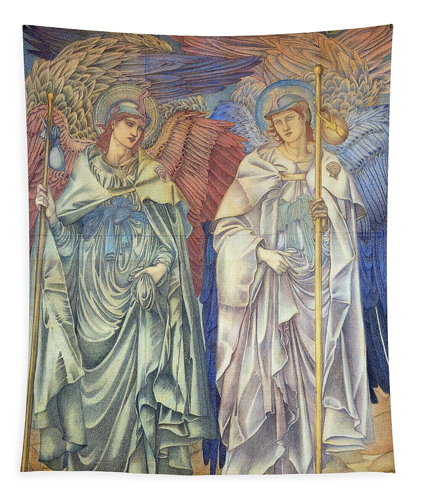 Angeli Ministrantes Tapestry featuring the painting Angeli Ministrantes by Sir Edward Coley Burne-Jones