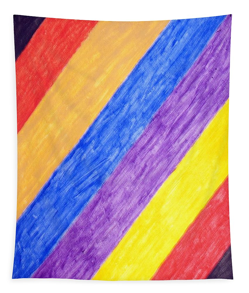 Abstract Tapestry featuring the painting Angles by Stormm Bradshaw