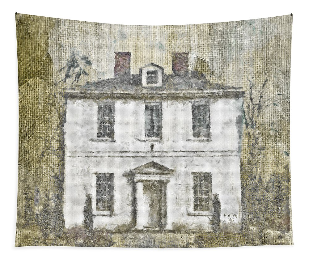 House Tapestry featuring the mixed media Animal House by Trish Tritz
