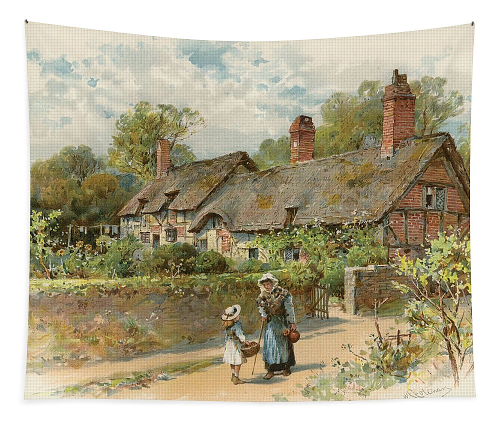 Coleman Tapestry featuring the Anne Hathaway's Cottage At Shottery by William Stephen Coleman